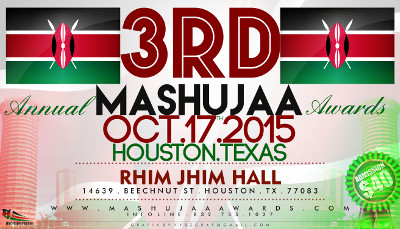 3rd Annual Mashujaa Award Gala Ceremony on October 17th, 2015
